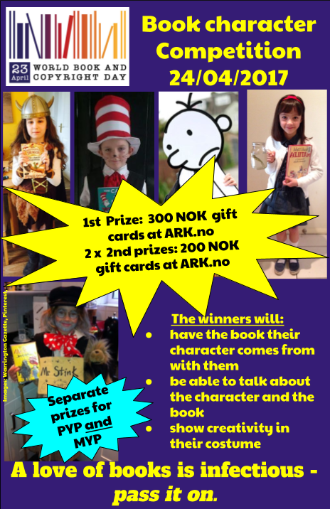 World Book Day Poster - character competition