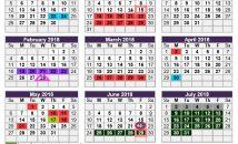 Calendar for 2017/2018 now available